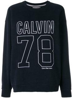 спортивный пуловер с логотипом  Calvin Klein Jeans