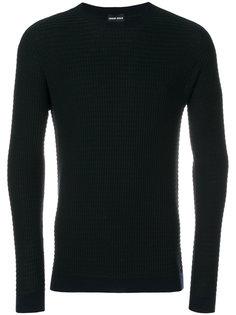 фактурный свитер с круглым вырезом Giorgio Armani