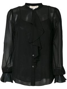 прозрачная блузка с рюшами Michael Michael Kors