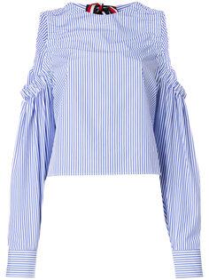 блузка в полоску с открытыми плечами  Hilfiger Collection