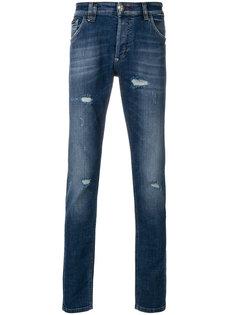 джинсы с рваной отделкой Philipp Plein
