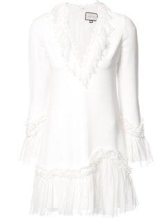 платье мини с оборками Alexis