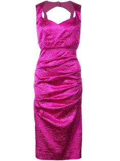 приталенное платье со сборками Nicole Miller