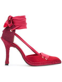 туфли с завязками вокруг щиколотки Manolo X Castaner