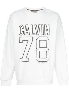 свитер с вышитым логотипом  Calvin Klein Jeans