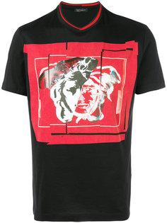 футболка с абстрактным принтом Medusa Versace Collection