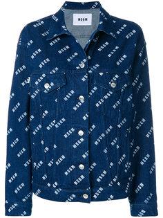 джинсовая куртка с логотипом  MSGM