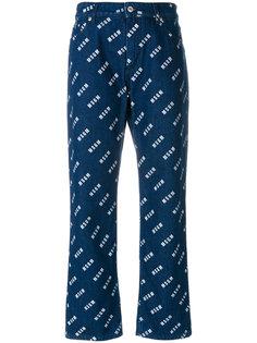джинсы с принтом-логотипом  MSGM