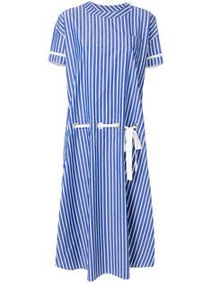 полосатое платье-рубашка  Sacai