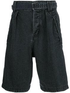 джинсовые шорты свободного кроя Sacai