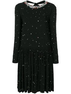 декорированное платье  Miu Miu