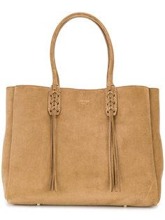 сумка-тоут с плетеной отделкой Lanvin
