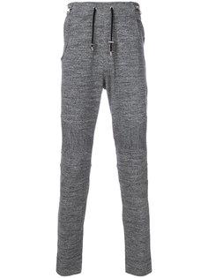 спортивные брюки с ребристой фактурой Balmain