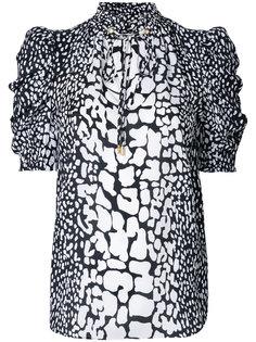 блузка с пятнистым узором Michael Michael Kors