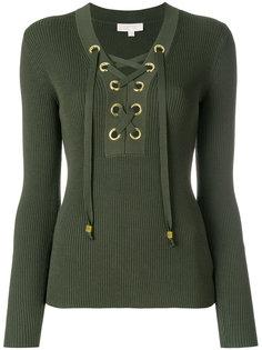 свитер в рубчик со шнуровкой Michael Michael Kors