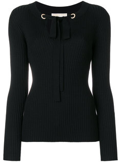 свитер в рубчик с завязками  Michael Michael Kors