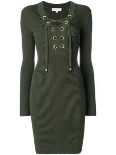 платье в рубчик со шнуровкой Michael Michael Kors