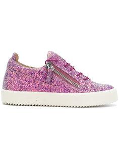 кроссовки с блестящей отделкой Giuseppe Zanotti Design