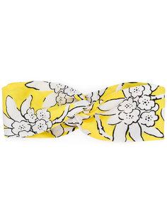 повязка на голову с цветочным принтом Valentino