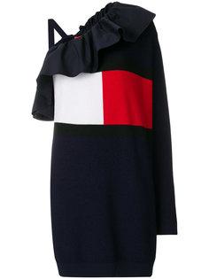 асимметричное платье с логотипом  Tommy Hilfiger