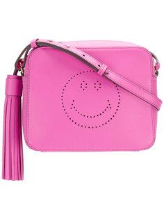 perforated smiley shoulder bag Anya Hindmarch