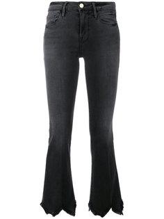 джинсы клеш с бахромой  Frame Denim