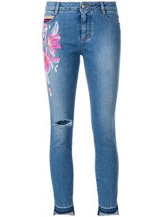 укороченные джинсы с вышивкой Ermanno Scervino