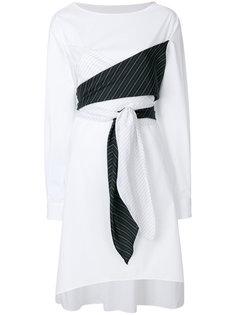 платье-рубашка с запахом и завязкой  Mm6 Maison Margiela