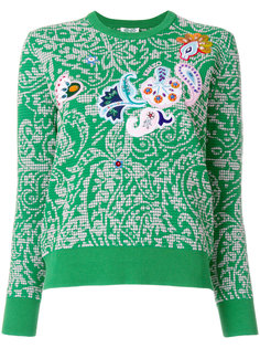 floral patterned sweater Kenzo
