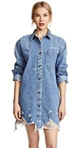 Denim x Alexander Wang Oversized Shirt Jacket