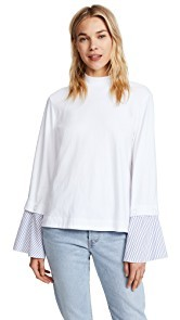 SJYP Wide Shirt Cuff Top