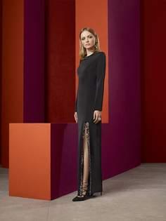 Длинное платье с разрезом La Reine Blanche
