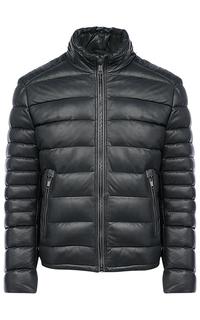 Кожаная куртка, утепленная натуральным пухом