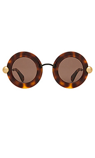 Солнцезащитные очки round acetate and metal - Christopher Kane