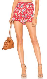 Мини юбка-шорты flirting fleurs - Free People