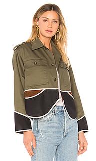 Куртка vintage cropped olive drab - Harvey Faircloth