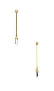 Crystal ear jacket earrings - House of Harlow 1960