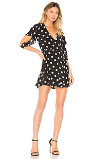 Платье с запахом flutter sleeve - Michelle Mason