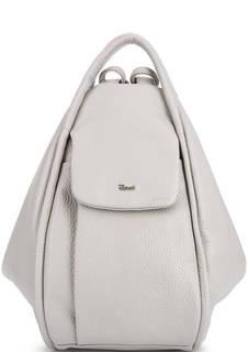Серая сумка-рюкзак с тремя отделами Bruno Rossi