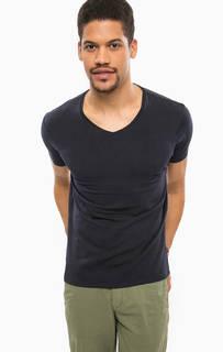 Однотонная футболка с короткими рукавами Scotch&Soda