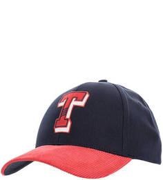 Синяя хлопковая бейсболка с логотипом бренда Tommy Jeans