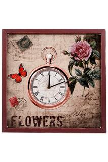Часы настенные 43x43x2 см Русские подарки