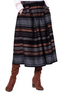 Расклешенная юбка в полоску LO