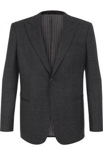Однобортный пиджак из смеси шерсти и кашемира Giorgio Armani