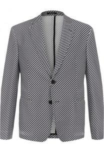 Однобортный пиджак с принтом Giorgio Armani