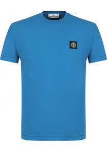 Хлопковая футболка с логотипом бренда Stone Island