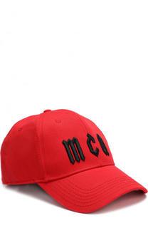 Хлопковая бейсболка с вышивкой MCQ