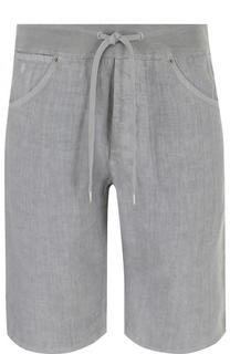 Льняные шорты с поясом на кулиске 120% Lino