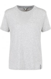 Однотонная футболка прямого кроя с круглым вырезом Kenzo