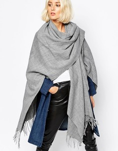 Oversize-шарф Pieces - Серый